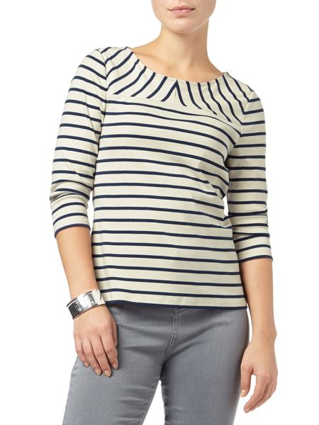 Phase Eight Ponte stripe top