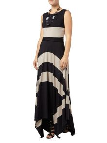 Wide stripe maxi dress
