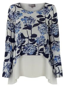 Phase Eight Phase Eight Hydrangea Print Top