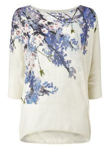 Phase Eight Aria Trailing Floral Knit Jumper