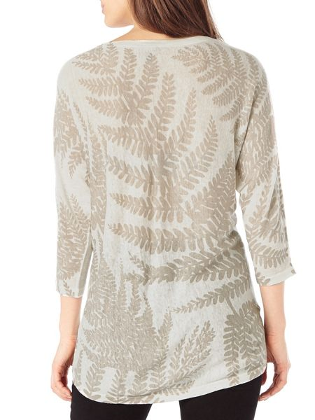 Phase Eight Fia fern print knit jumper