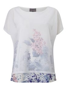 Phase Eight Elenora Wisteria Print Knit Top