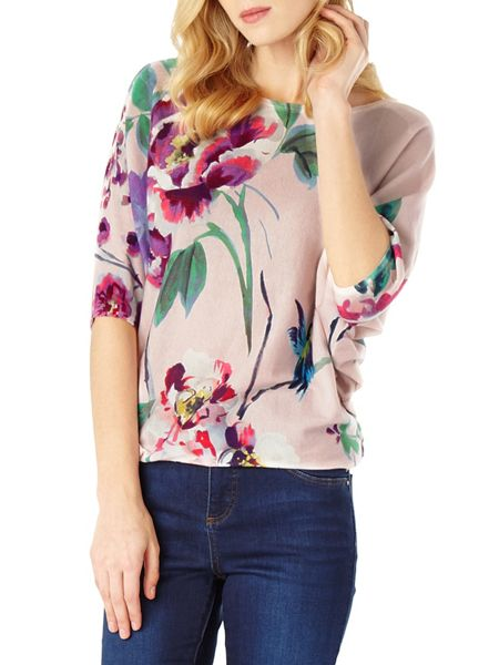 Phase Eight Amelea blossom print knit jumper