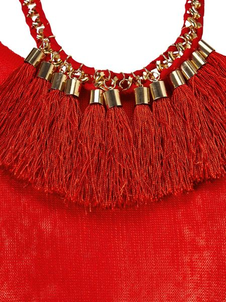 Phase Eight Tomasine Tassle Necklace Knit Jumper