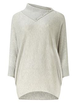 Split Neck Becca Batwing Jumper