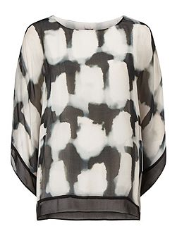 Mildred Print Silk Blouse
