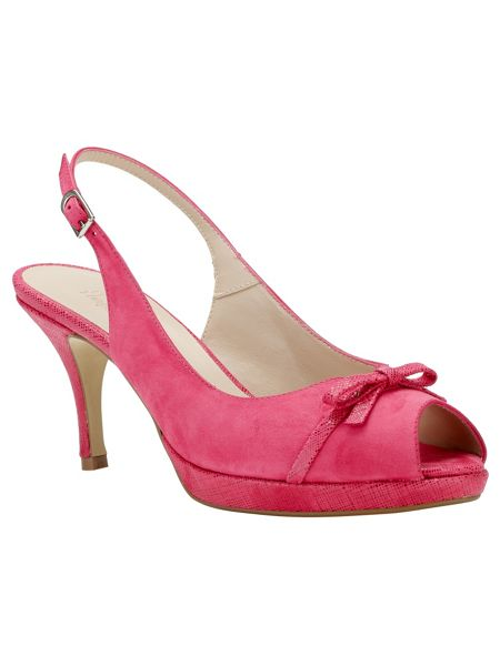 Phase Eight Elle Leather Peep Toe Shoes