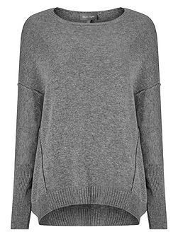 Ebony exposed seam jumper