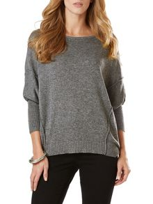 Phase Eight Ebony exposed seam jumper