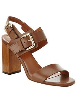 Caz Leather Block Heel Sandals