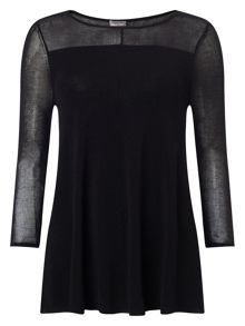 Phase Eight Sheer Yoke Cali Knit Jumper