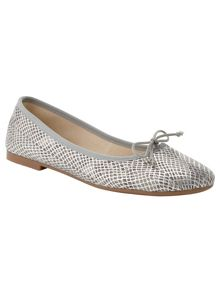 Phase Eight Textured Leather Ballerina Shoes
