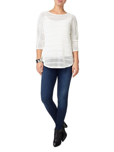 Phase Eight Saskia self stripe top