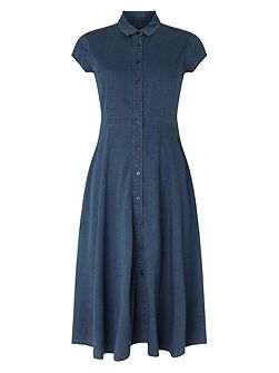 Phase Eight Sophie Denim Chambray Dress