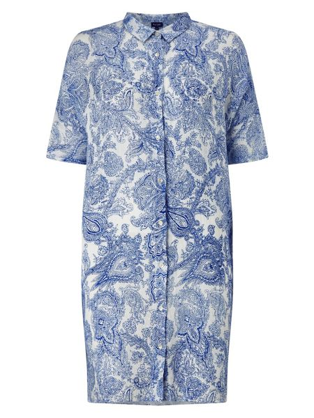 Phase Eight Ines Paisley Linen Shirt
