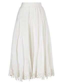 Suri Battenberg Lace Hem Skirt