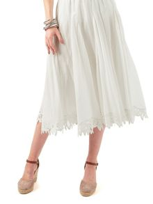 Phase Eight Suri Battenberg Lace Hem Skirt