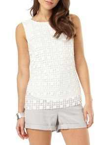 Phase Eight Alba Lace Shell Top