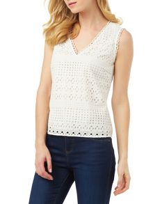 Phase Eight Tessa Broderie Sleeveless Top
