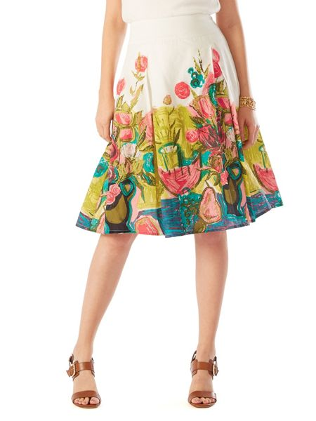 Phase Eight Adeline Print Cotton Skirt