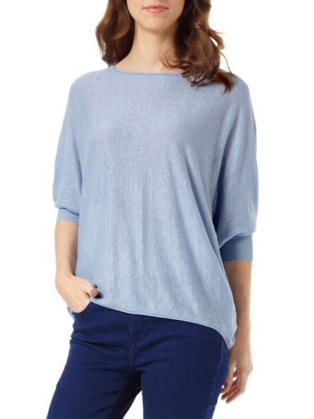 Phase Eight Linen Becca Batwing Jumper