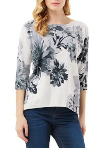 Phase Eight Breana Floral Print Knit Jumper