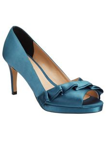 Phase Eight Lucy Satin Peep Toe Shoes