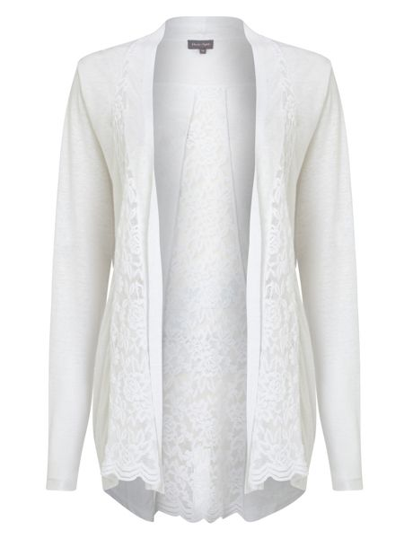 Phase Eight Lace Linen Cardigan