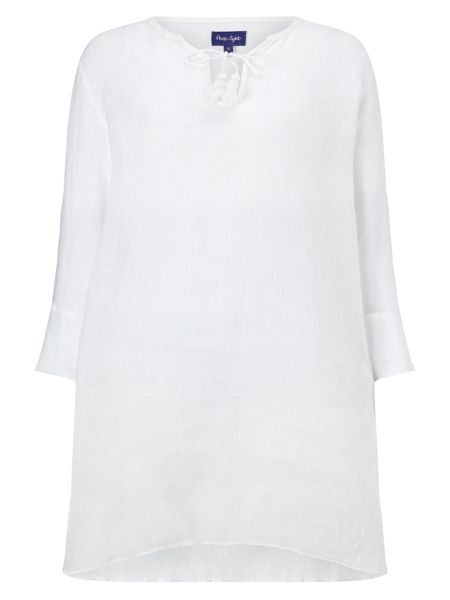 Phase Eight Lula Linen Gauze Top