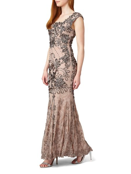 Phase Eight Barbara Tapework Full Length Dress