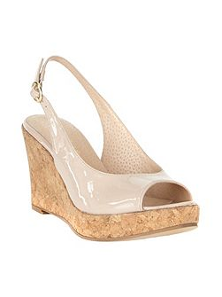 Daisy Leather Wedge Shoes
