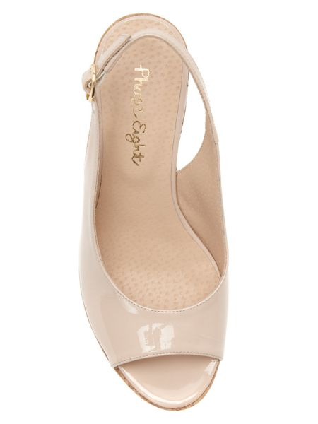 Phase Eight Daisy Leather Wedge Shoes