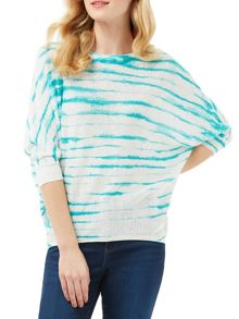 Phase Eight Brunetta Stripe Linen Knit Jumper