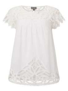 Phase Eight Ambroise Crochet Blouse