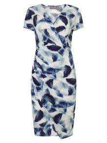 Phase Eight Crepe Feather Print Dress