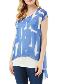 Phase Eight Tula Print Silk Blouse