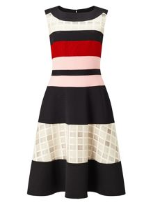 Phase Eight Rosina Stripe Flare Dress