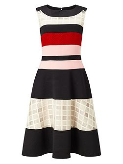 Rosina Stripe Flare Dress