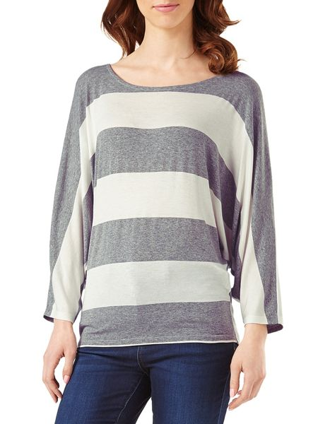 Phase Eight Stripe Batwing Top