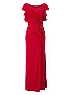 Laurita Frill Sleeve Maxi Dress