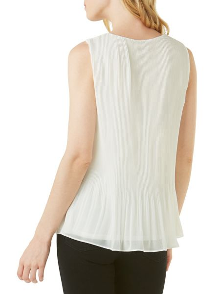 Phase Eight Ella Pleated Sleeveless Blouse