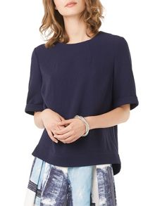 Phase Eight Dalia Crepe Zip Back Top