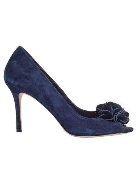 Phase Eight Petal Suede Peep Toe Shoes