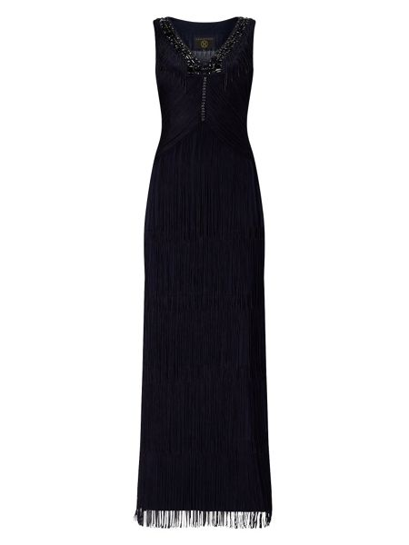 Phase Eight Sable Fringe Full Length Dress