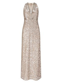 Serina Sequinned Full Length Dress