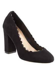 Phase Eight Stevie Scalloped Suede Court Shoes