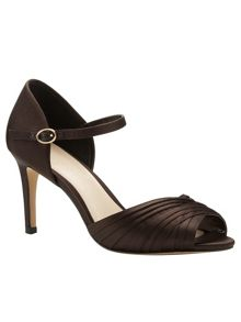Phase Eight Nina Pleated Satin Sandals