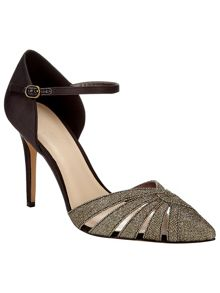 Phase Eight Ivy Sparkle Pointed Court Shoes