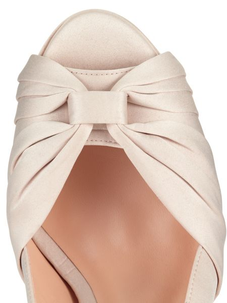 Phase Eight Gina Satin Peep Toe Shoes