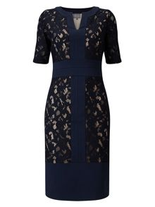 Phase Eight Luisa Lace Ponte Dress